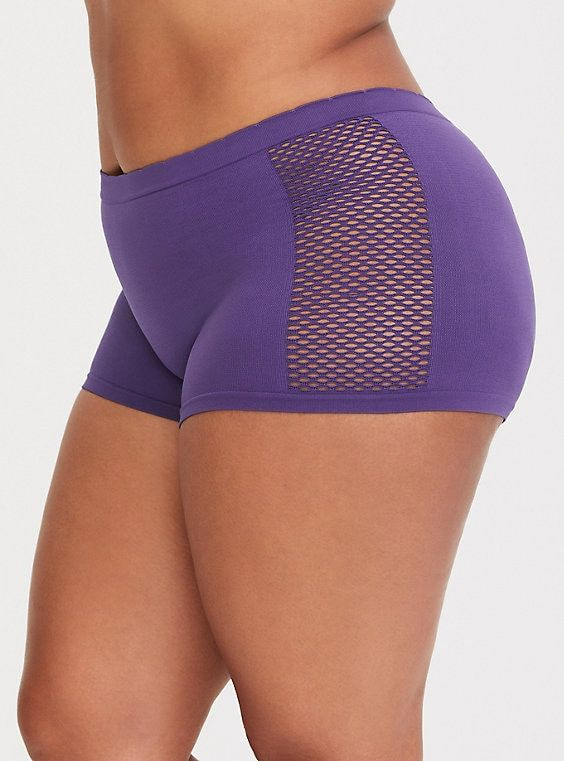 22ee43e9a20d Purple Seamless Boyshort Panty in 2019   Products   Plus size ...