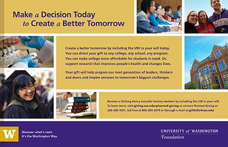 Planned Giving Univ Of Washington Fundraising Pinterest - Planned giving brochures templates