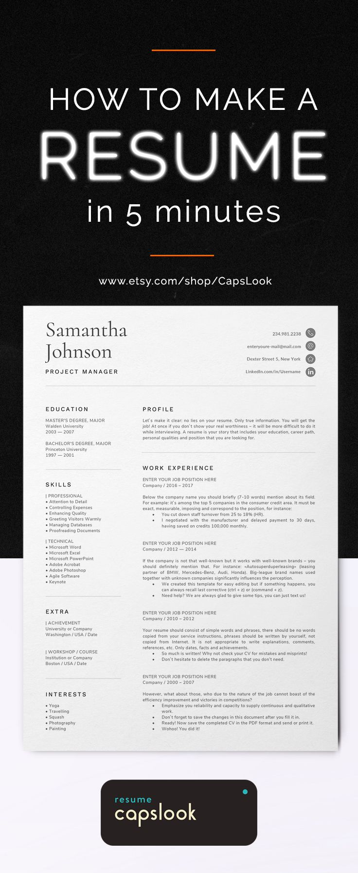 Simple resume format Professional and clean cv template
