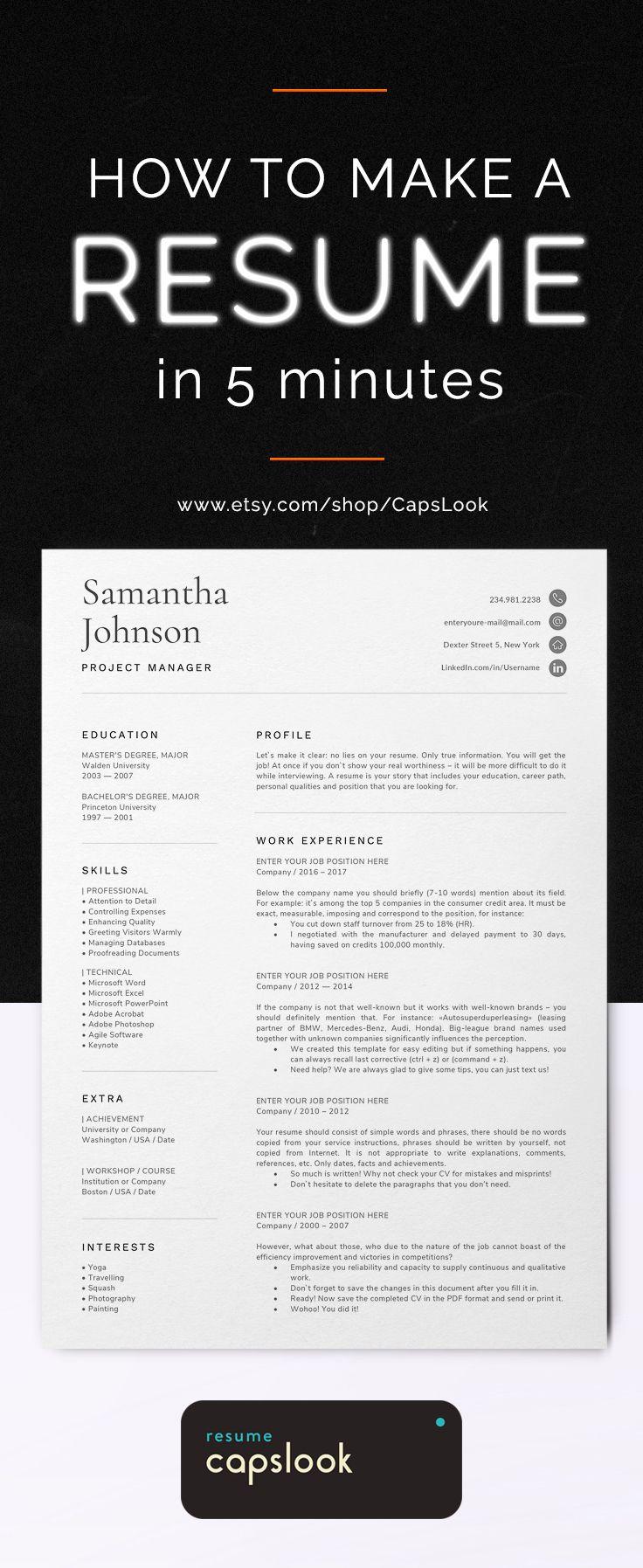 Work Immersion Resume Format