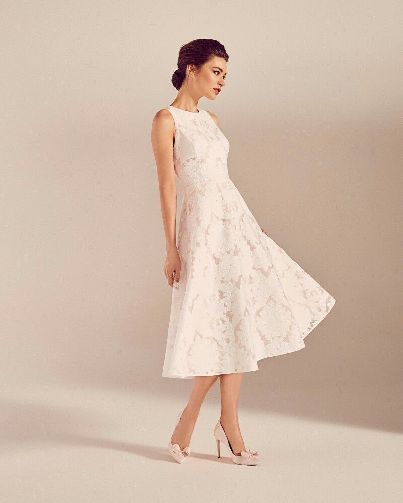 Ted Baker White Midi Dress In 2020 Evening Dresses For Weddings Ivory Dress Outfit Dresses