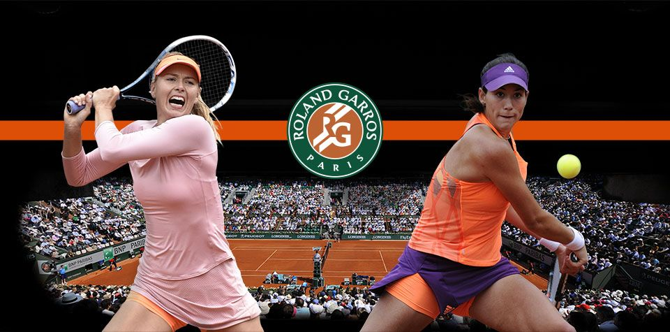 6/3/14 Garbine Muguruza's dream French Open 2014 ends with surprise & very loud 6-1, 5-7, 1-6 loss to #7-Seed Maria Sharapova in the QFs. Maria hoping to win her 5th SLAM Title.  Unable to hold her serve, Garbine exits Roland Garros with her best showing yet.