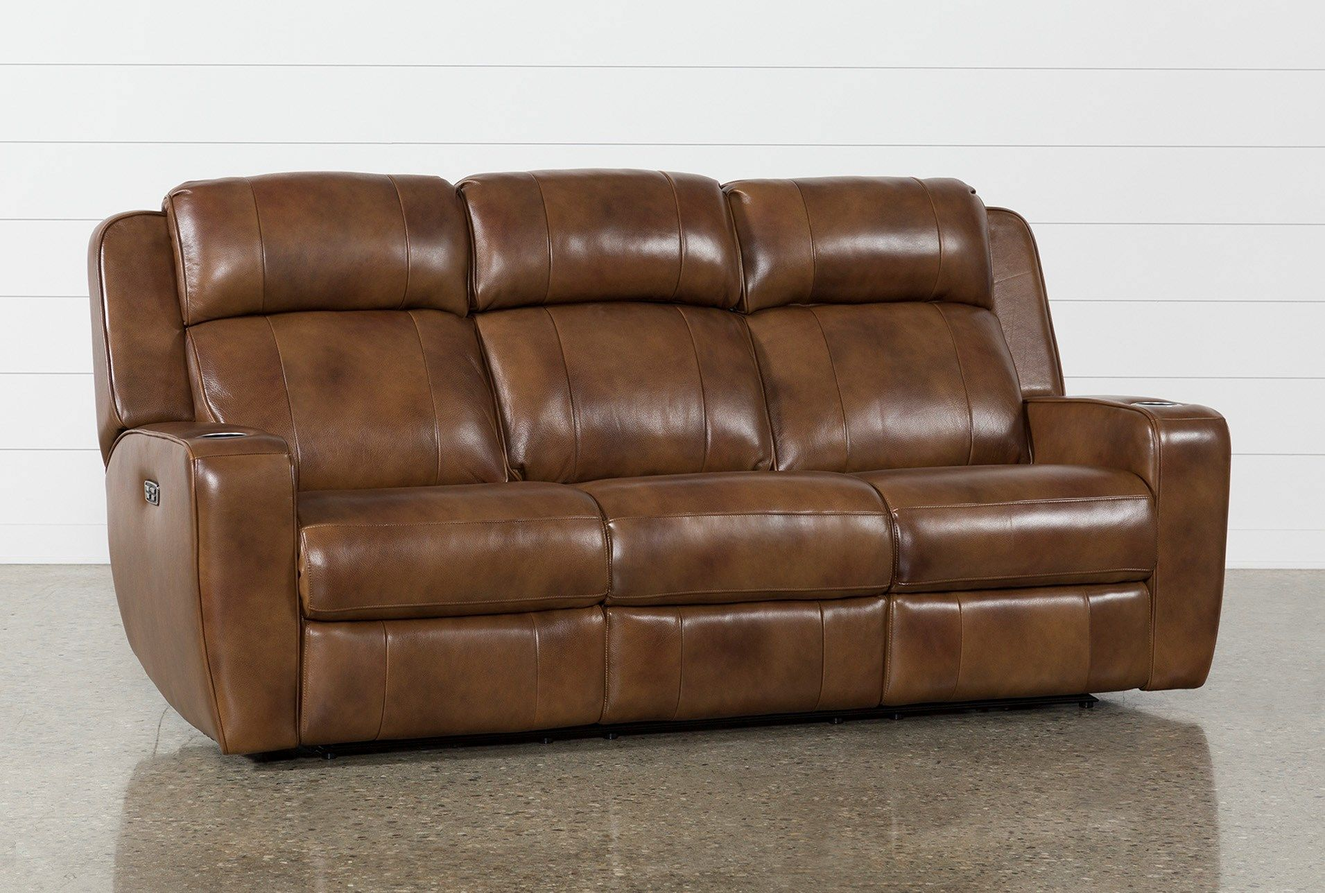 Phelps Leather 87 Power Reclining Sofa With Power Headrest Usb Reclining Sofa Power Reclining Sofa Leather Reclining Sofa