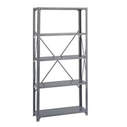 Safco 5 Shelf 36 Inch Wide X 12 Inch Deep X 72 Inch High Commercial Shelf Kit Steel Shelving Unit Steel Shelving Safco