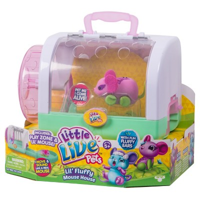 Little Live Pets Lil Fluffy Mouse House Flitter Mouse Little Live Pets Fluffy Pet Mice