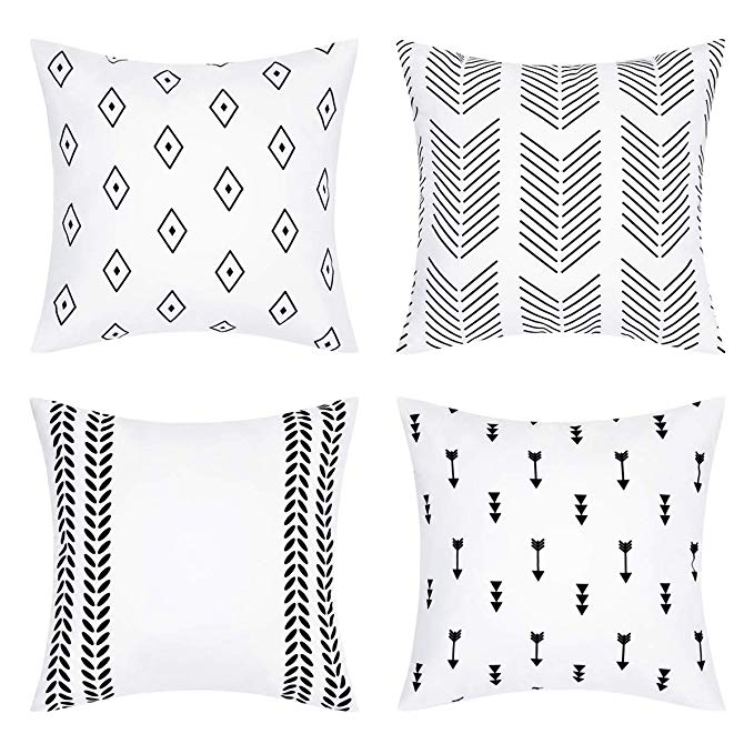 Amazon Com Bleum Cade Geometric Throw Pillow Covers Modern Decorative Pillow Cover Set Of 4 In 2020 Geometric Throw Pillows Modern Decorative Pillows Geometric Throws