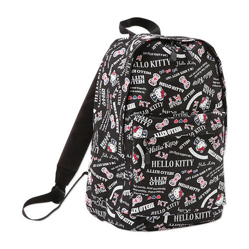 Hello Kitty Backpack Daypack School Travel Bag Sanrio London Union Jack Black | eBay