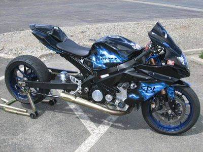 GSXR..blk and purple and no stretched swingarm