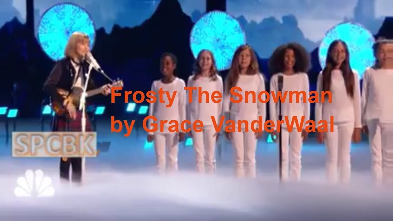 Frosty The Snowman by Grace VanderWaal on AGT Holiday Special
