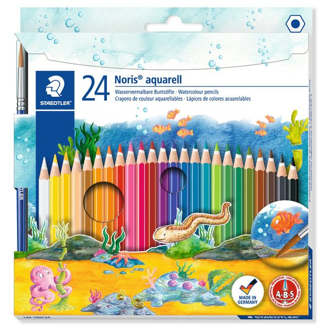 24 Lapices De Color Staedtler Noris Club 144 10 Acuarelables En