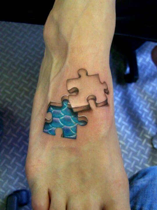 I don't like the puzzle piece but to love the coloring of the scales
