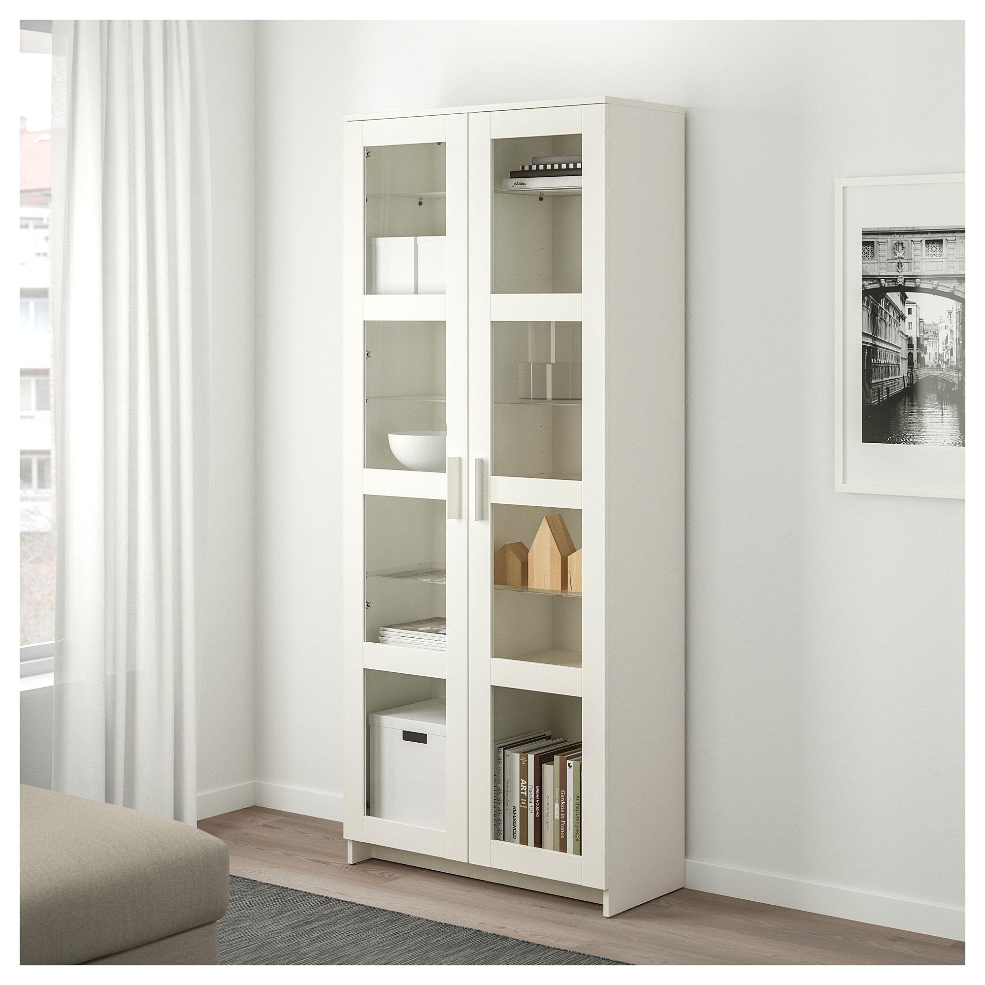 Ikea Brimnes Glass Door Cabinet White In 2019 Products