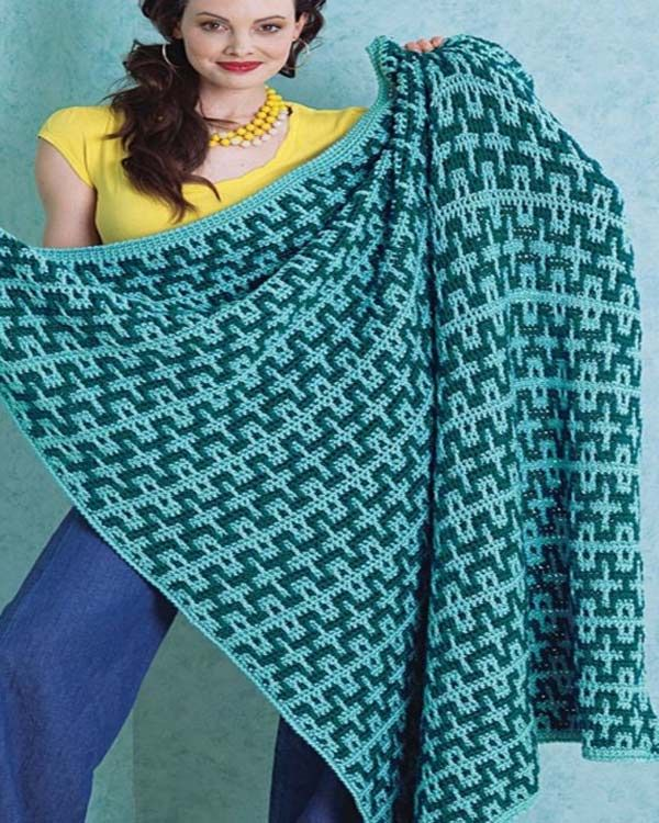 Free Beach Blanket Crochet Pattern from RedHeart.com | Get Crafty ...
