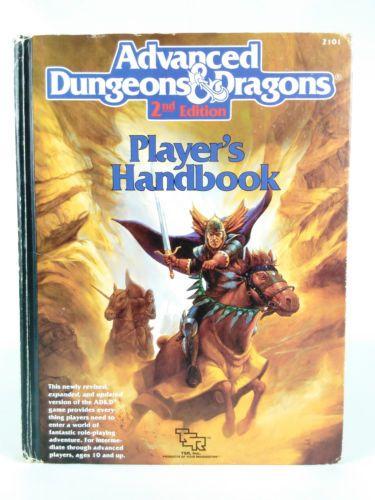 Player S Handbook Advanced Dungeons Dragons 2nd Edition Tsr 2101