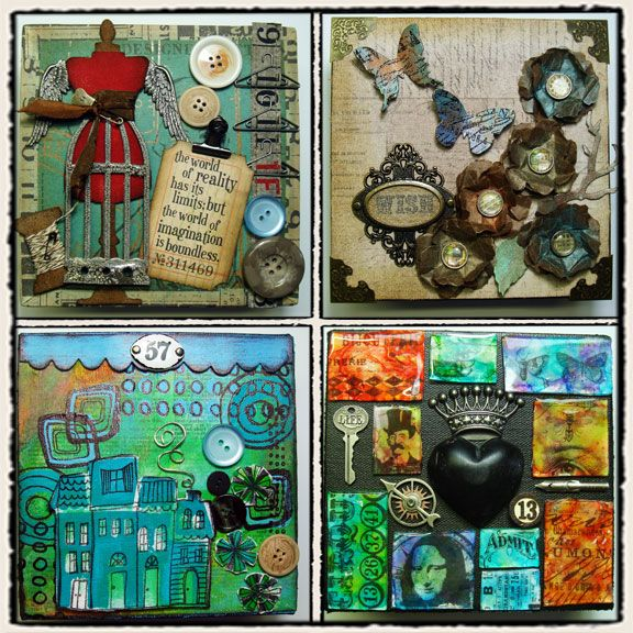 Tim Holtz collage projects