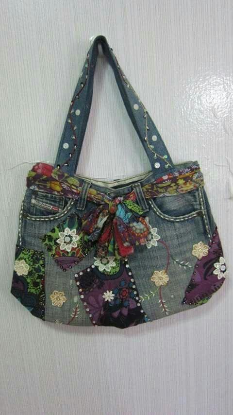 pin von umaimah alwi auf sewing embroidery pinterest jeans tasche jeans und taschen. Black Bedroom Furniture Sets. Home Design Ideas