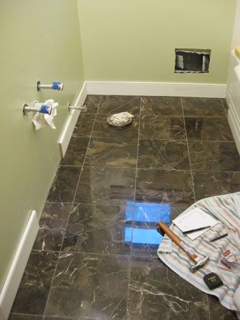 High Quality Bathroom Renovation: How To Install Baseboards U0026 Trim