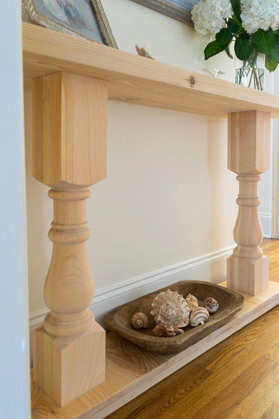 Build A Console Table A Fun First Furniture Build Diy Sofa Table Diy Console Table Easy Home Decor