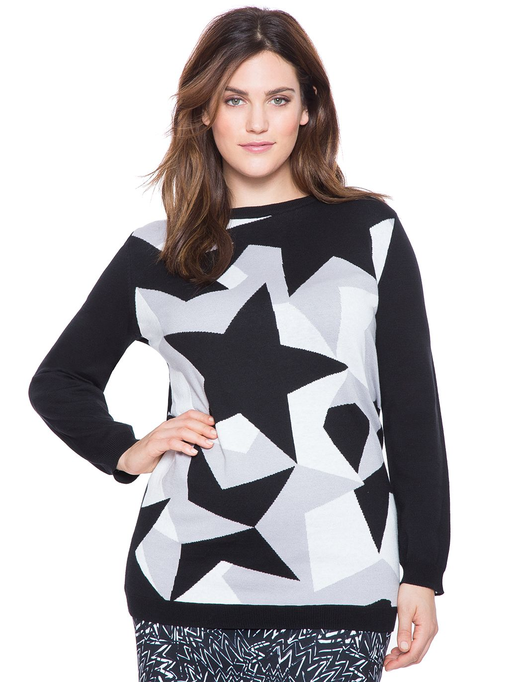 a535e2f772153 View our Studio All Over Stars Sweater and shop our selection of designer women s  plus size Tops
