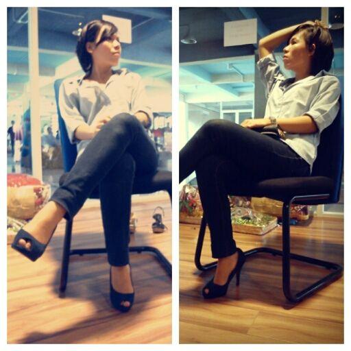 #Shirt #jeans #highheels #simple #stuff