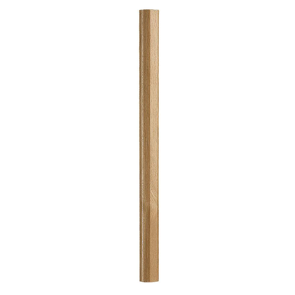 Best Fusion 32 1 4 In Prefinished Oak Newel Post 4001419 Oak 400 x 300