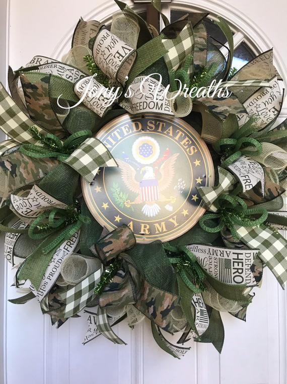 United States Army wreath, united stated army front door wreath, military wreath, deco mesh wreath, army wreath, United States army #decomeshwreaths