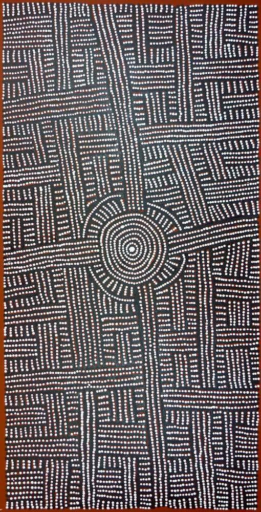 Medium Acrylic on Canvas   Dimensions 70x140cm   Name Kungka Tjukurrpa   ID BAM1483   Artist Bambatu Napangardi