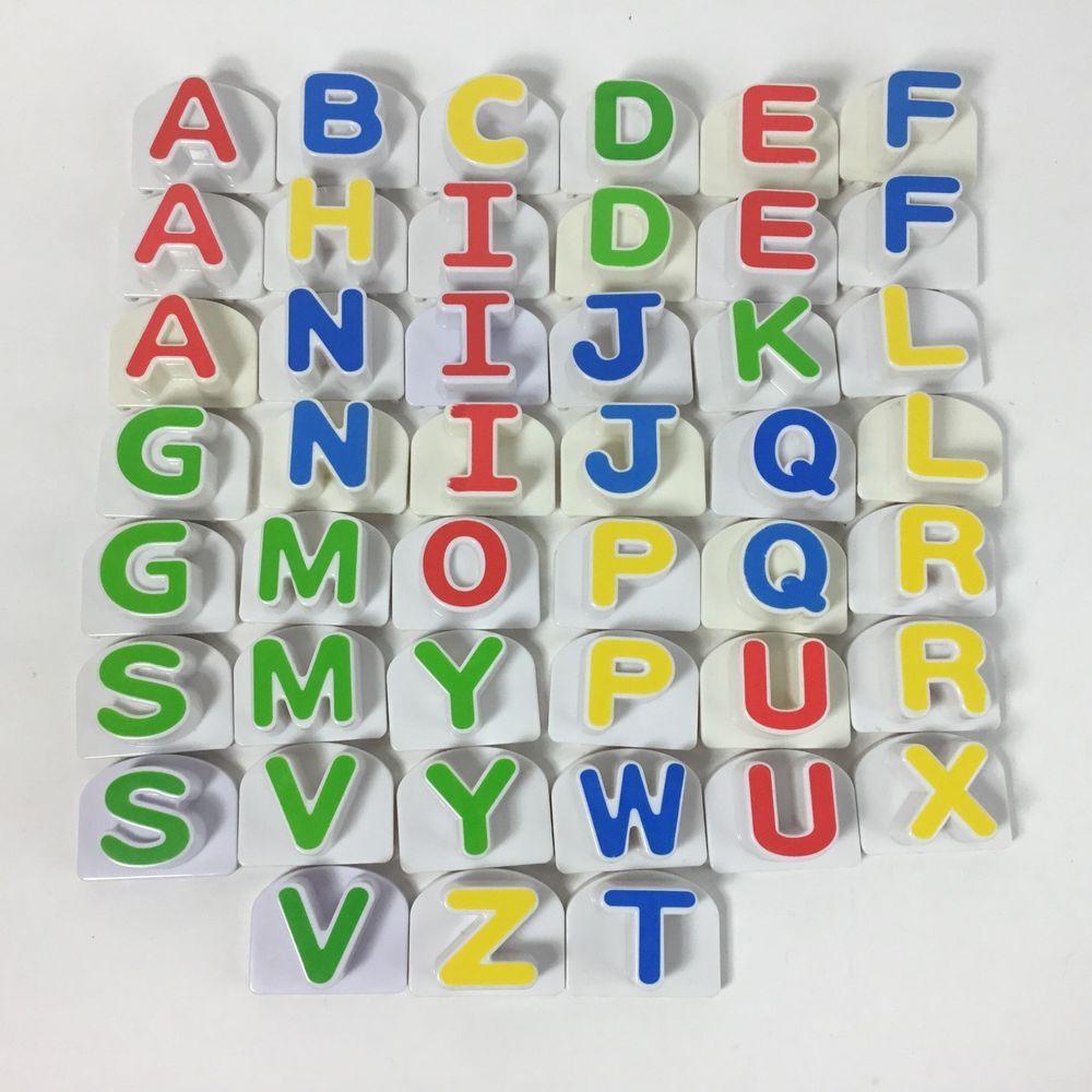 s LeapFrog Leap Fridge Phonics Word Whammer Replacement Alphabet Capital Letter