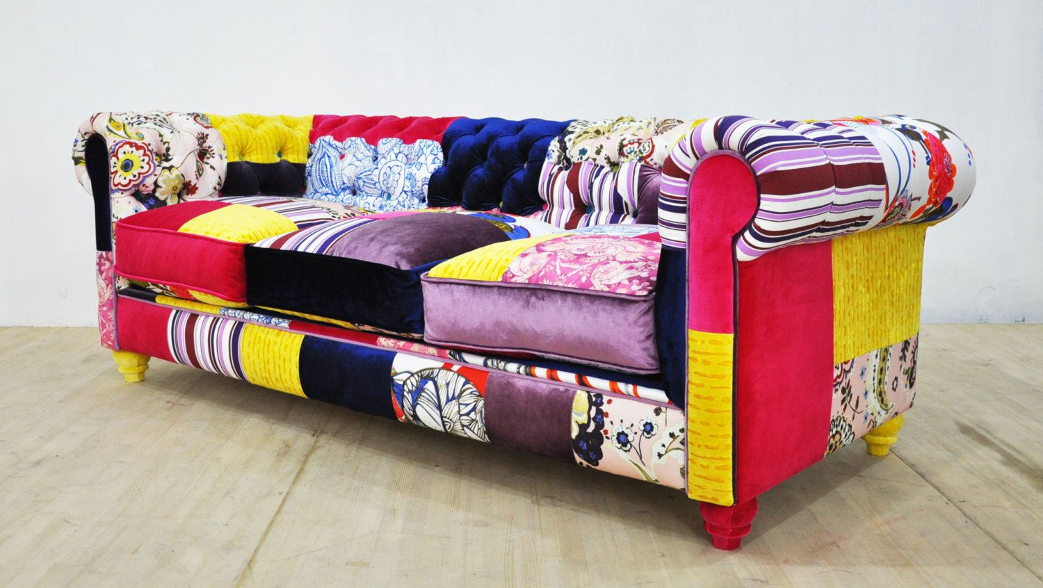 Patchwork Sofa Chesterfield Patchwork Sofa Color Waterfall Tasarım