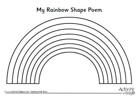 Rainbow Shape Poem Template