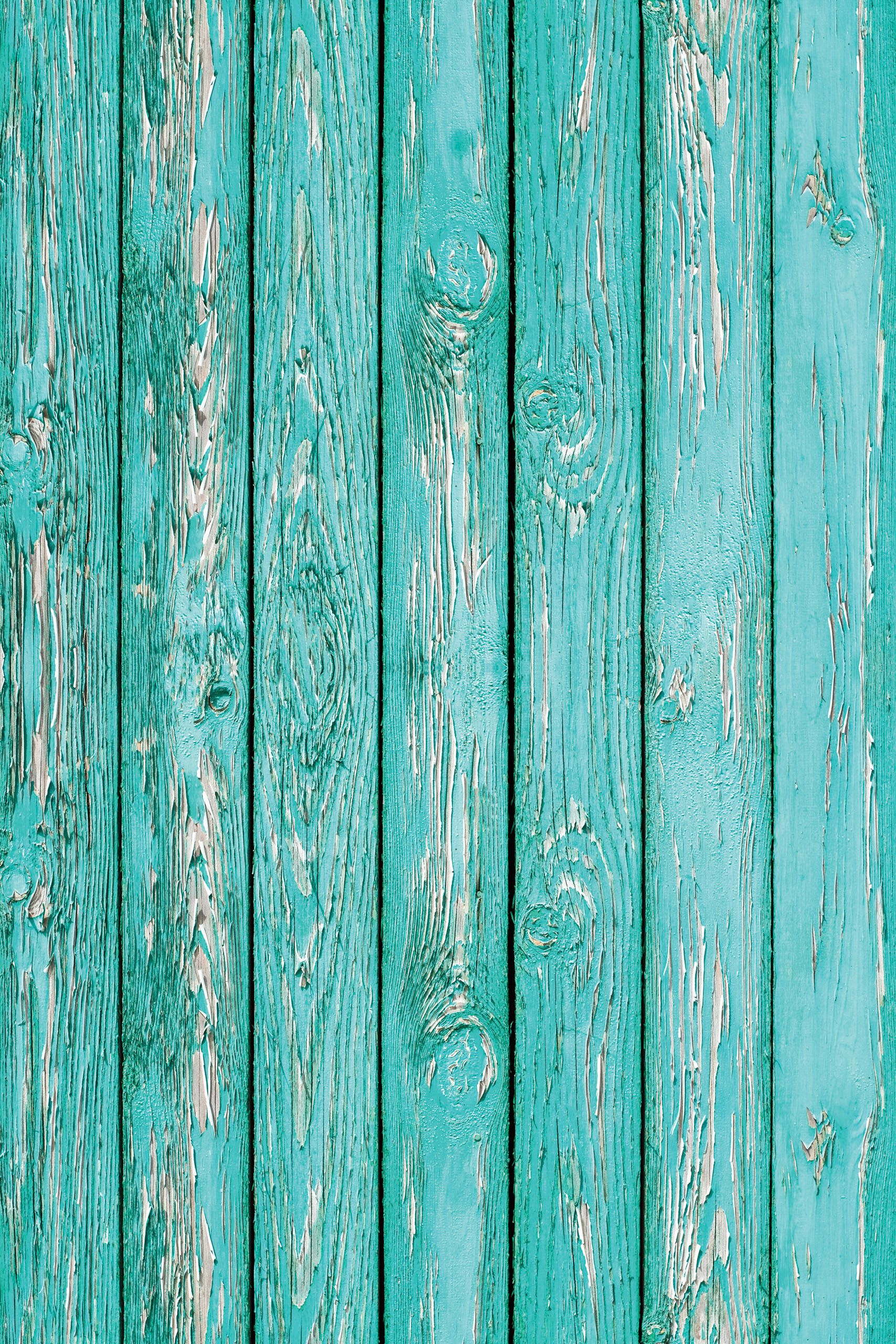 Plank 90 Cm.Old Wooden Planks Turquoise Cracked Paint Used For Summer