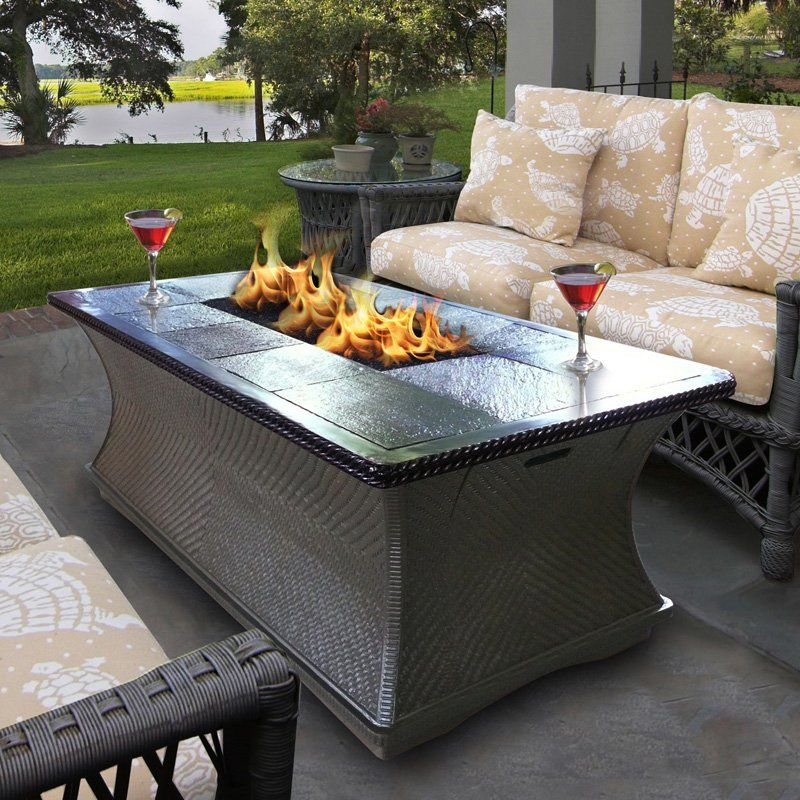 Have To Have It California Outdoor Concepts Monterey Rectangle Fire Pit Coffee Table