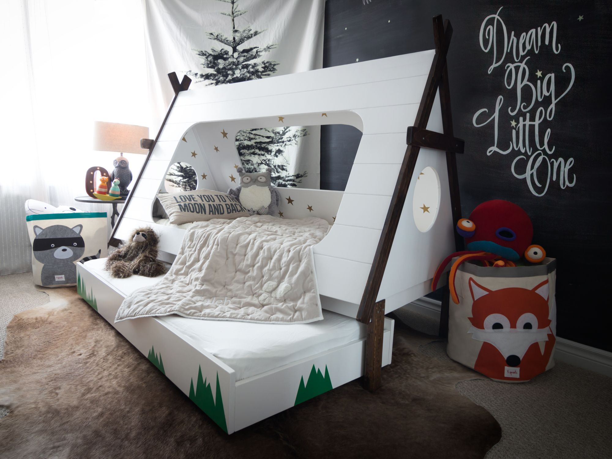 Woood Kinderbed Tipi Trundle Bed House Kid S Rooms Teepee Kids Kid Beds Teepee Bed