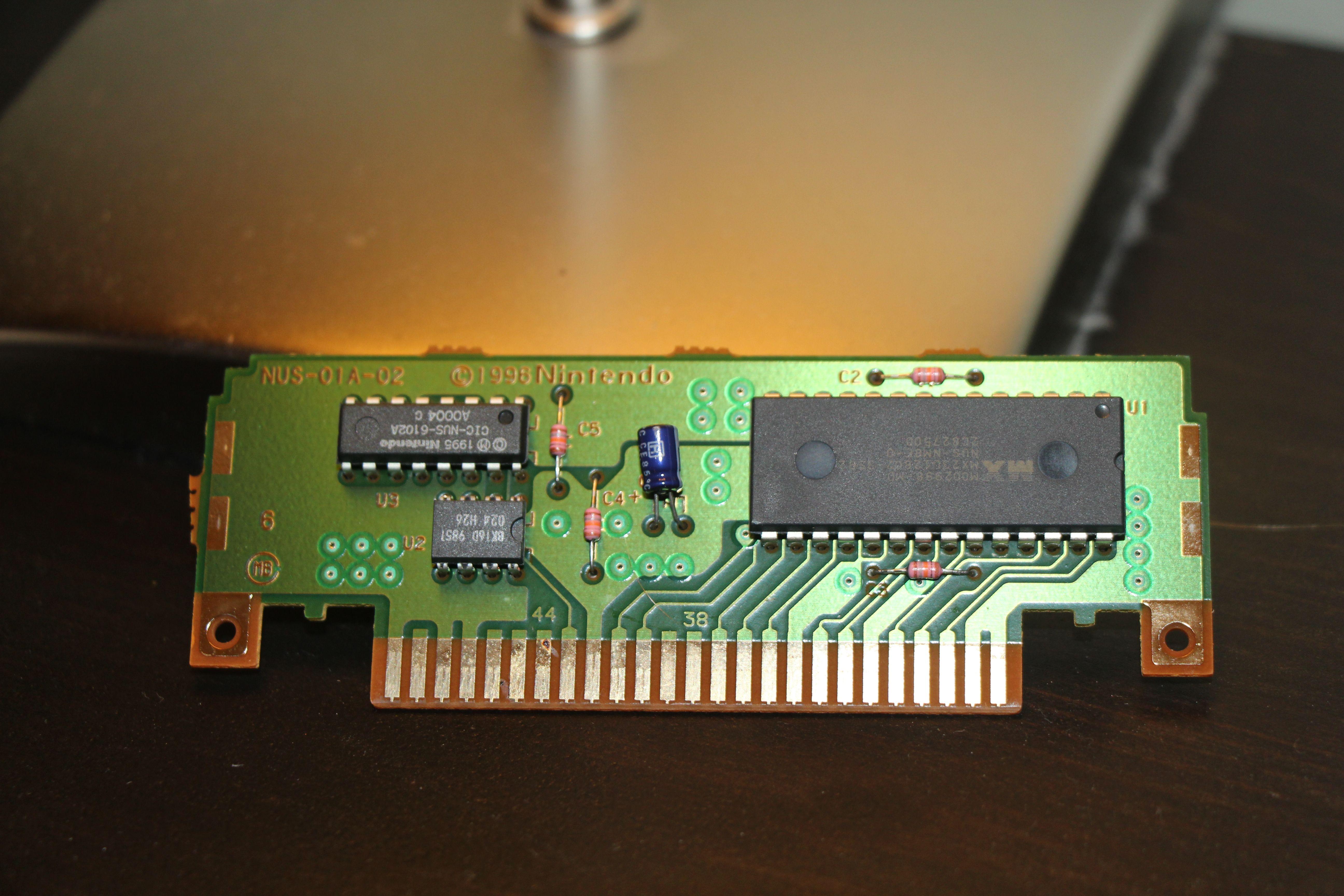 Mario Tennis for N64 MX23L12802 128 MBit ROM CIC-NUS-6102A