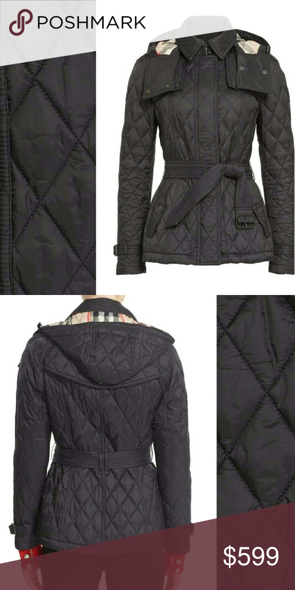 Burberry Finsbridge Short Quilted Jacket Size S Burberry London Finsbridge Short Quilted Jacket Size S Color Black Coat Outfits Clothes Design Quilted Jacket