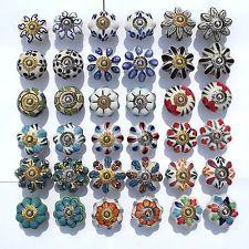 Ceramic Door Knobs Handles Drawer cupboard wardrobe porcelain china ...