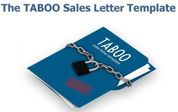 taboo sales letter template by richard g lewis review the