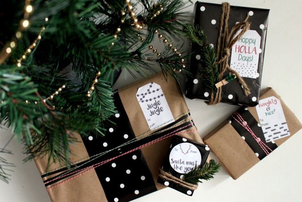 fee6f75ec4957 Modern Christmas Gift Tag Labels | Gift Wrap & Packaging | Christmas ...