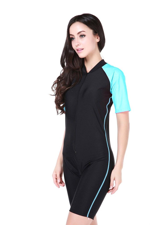 5371b51f7b6 OUO Fashion Women Ladies Girls One Piece Short Sleeve Swimsuit Swimwear  Unitard…