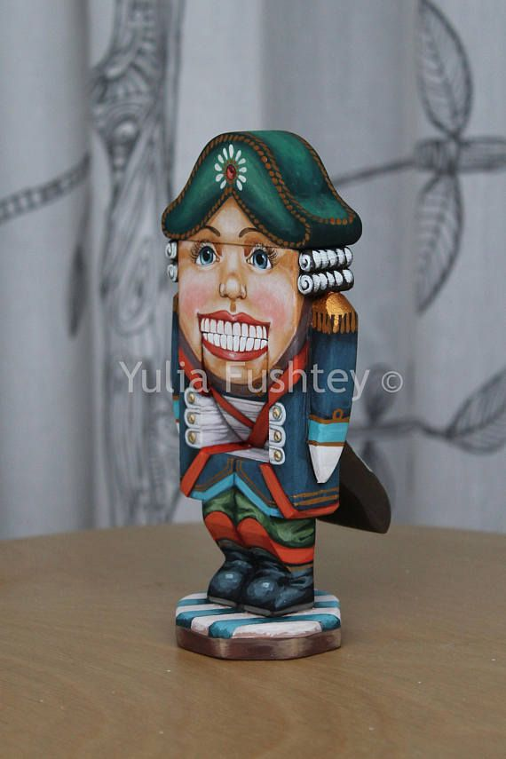 #Collectible wooden toy #Nutcracker. #Handpainted on #wood. #vintage