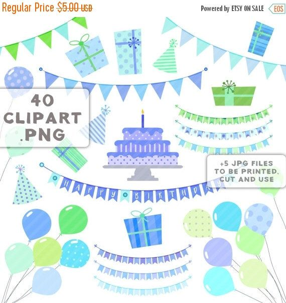 80% Until New Year - Birthday party baby clipart happy birthday baby ...