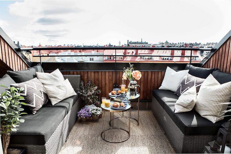 Outdoorküche Klappbar Norden : Dachterrasse gestalten ideen für dachloggia im schrägdach