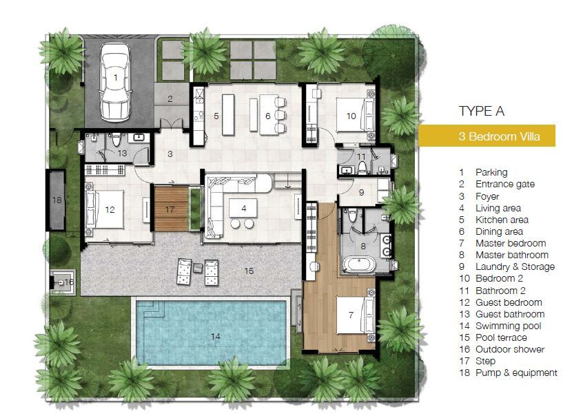 Affordable Luxury Pool Villas For Sale In Phuket Pool House Plans Architectural House Plans Home Design Floor Plans