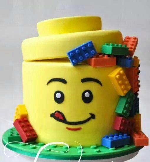 A Lego Themed Cake Cake Lego Inspiration Fun