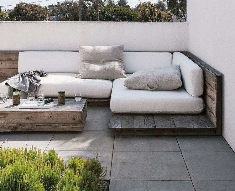 Idées De Meubles En Palettes DIY Projets Formidables Balcony - Canapé angle palette
