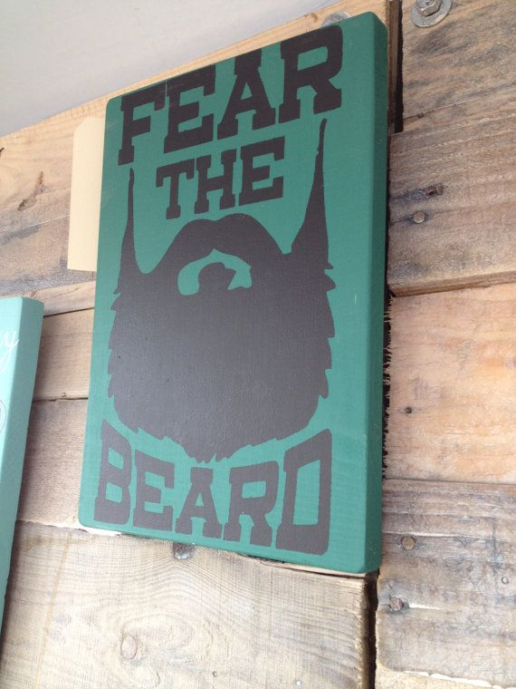 1ba05da789c1 Fear the Beard Man CaveHandpainted Wood Decor by BoondocksBoutique ...