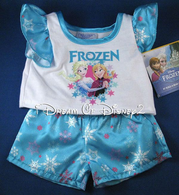 Build A Bear Frozen Pajama Outfit