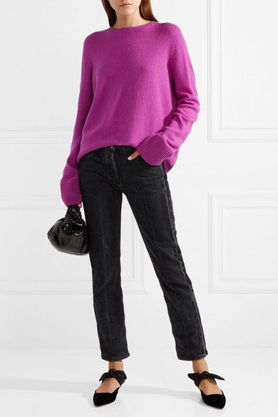 Discount 100% Original Sibel Oversized Wool And Cashmere-blend Sweater - Magenta The Row Browse Great Deals Buy Cheap Best Store To Get Discount Prices 6ApIwg