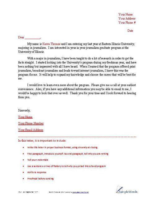 Letter Of Intent Sample  School And Business Letter