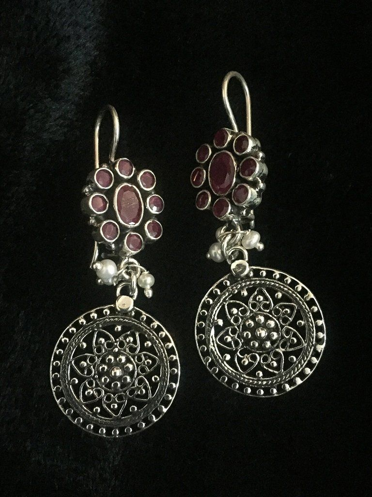 Pearl Flower Silver Earrings